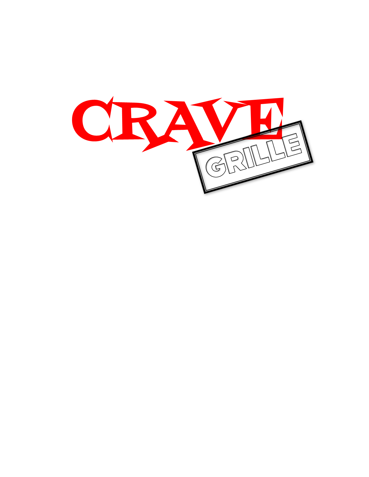 Crave Grille Trans with White